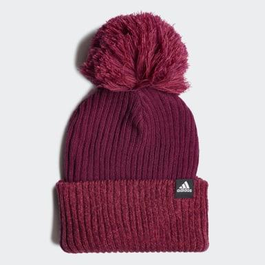 Mädchen Wintersport 3-Streifen Mütze Lila