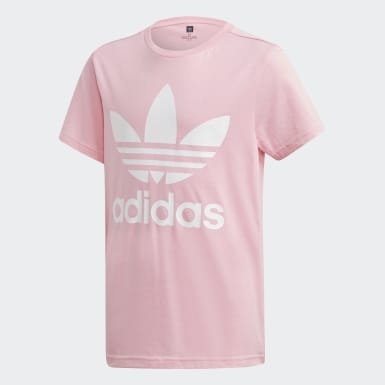 Youth Originals Pink Trefoil Tee