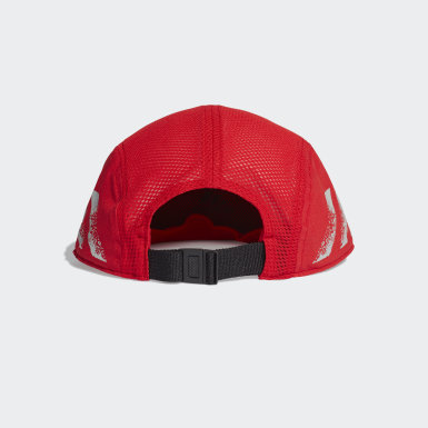 Gorra para correr Cinco Paneles Reflectante AEROREADY Rojo Running