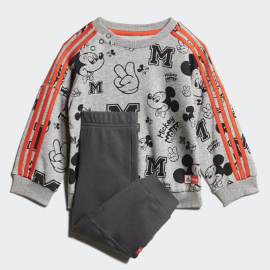 Boys Training Grey Disney Mickey Mouse Jogger Set