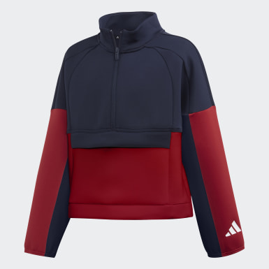 Mädchen Training ID Trainingsjacke Blau