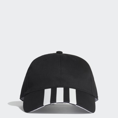 Lifestyle Black 3-Stripes Baseball Cap