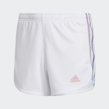 Children Training White Iridescence Stripe Shorts