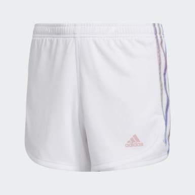 Children Training White Iridescence Stripe Shorts