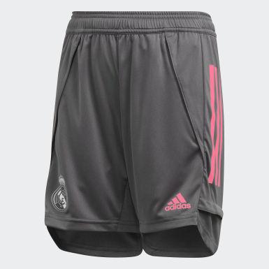 Pantalón corto entrenamiento Real Madrid Gris Niño Fútbol