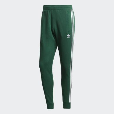 Calças 3-Stripes Verde Homem Originals