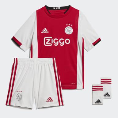Kinder Fußball Ajax Mini-Heimausrüstung Rot
