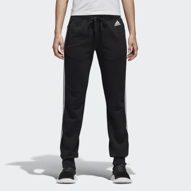 Essentials 3 Stripes Closed Hem Slim Joggers