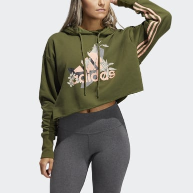 Women Athletics Green Hoodie