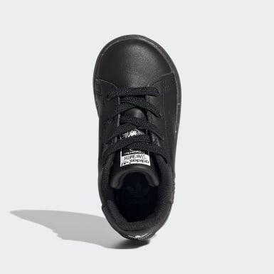 Kinderen Originals zwart Stan Smith Schoenen