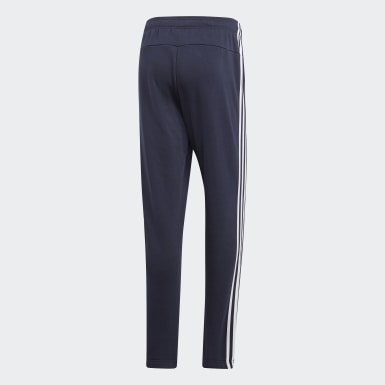 Herr Athletics Blå Essentials 3-Stripes Pants