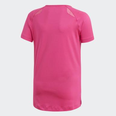 Children Volleyball Pink Hi Lo Jersey