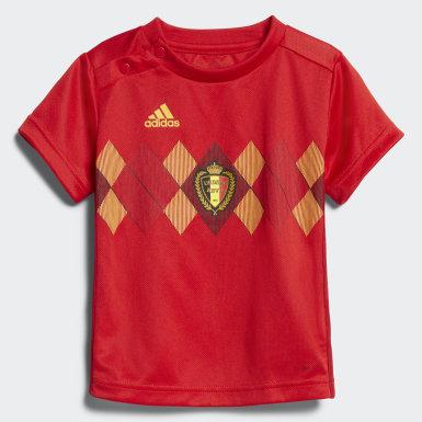 Barn Fotboll Röd Belgien Hemmaställ, baby