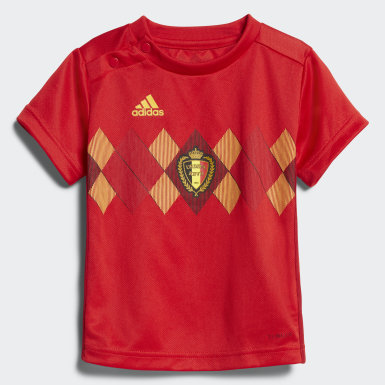 Kinder Fußball Belgien Mini-Heimausrüstung Rot