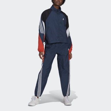 Dam Athletics Blå adidas Sportswear Game-Time Woven Track Suit