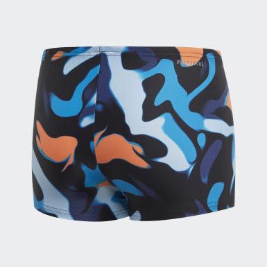 Boys Swimming Multicolour Primeblue Swim Briefs
