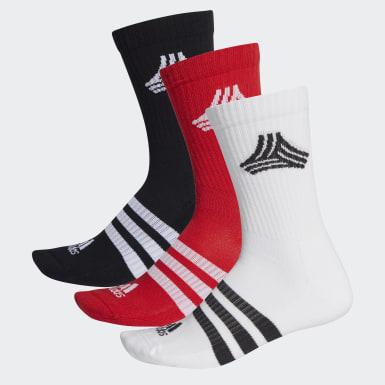 Fußball Football Street 3-Streifen Crew Socken Weiß