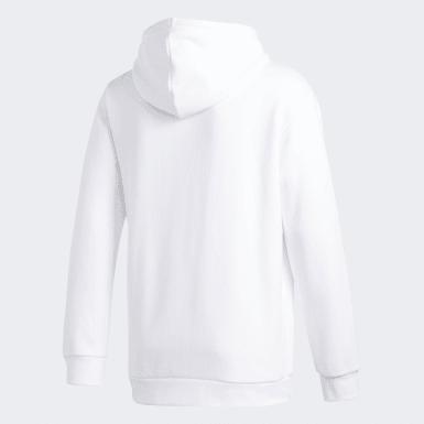 Camisola com Capuz Trefoil Branco Homem Originals