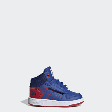 Tenis Hoops Mid 2.0 Rojo Niño Essentials