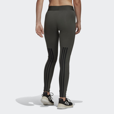 Women Sport Inspired Green Must Haves 3-Stripes Tights