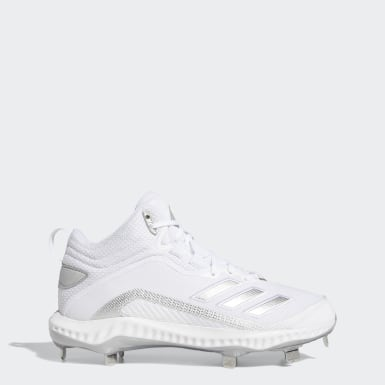 Men's Baseball White Icon 6 Bounce Mid Cleats