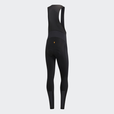 Mænd Cykling Sort Climawarm Padded Winter Bib tights