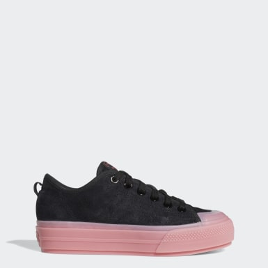 Dames Originals zwart Nizza RF Platform Schoenen