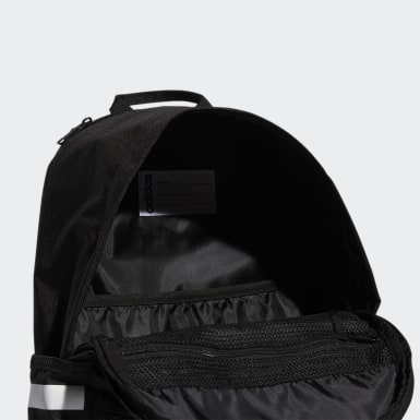 Essentials Black Classic 3-Stripes 3 Backpack