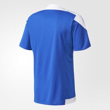 Camisa Listrada 15 Azul Homem Futebol
