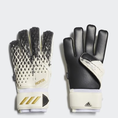 Football White Predator 20 Match Fingersave Gloves