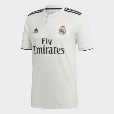 Mænd Fodbold Hvid Real Madrid Replica hjemmebanetrøje