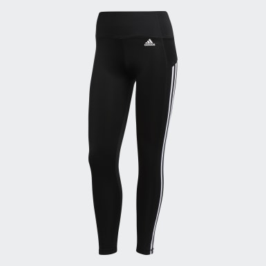 Women's Training Black 3-Stripes 7/8 Tights