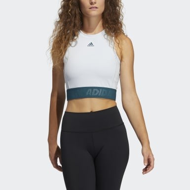 Camiseta sin mangas Techfit Crop Azul Mujer Cross Training