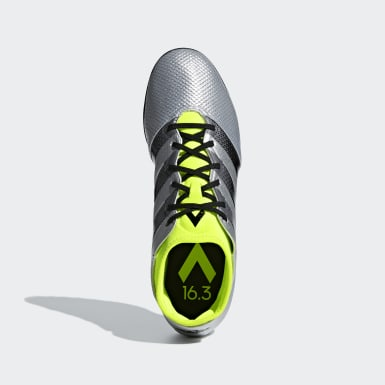 Zapatos de Fútbol ACE 16.3 PRIMEMESH Césped Artificial Plata Hombre Fútbol