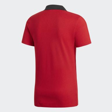 Polo Condivo 18 Cotton Rojo Hombre Fútbol