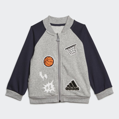 Kids Training Grey Collegiate Track Suit