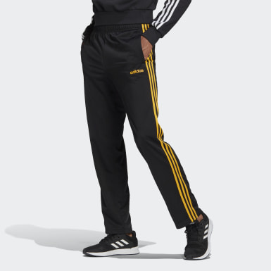 Men's Training Black 3-Stripes Pants