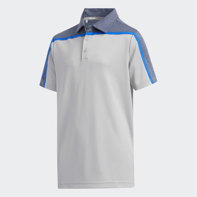 Boys Golf Grey Heathered Colorblock Polo Shirt