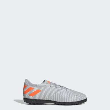 Zapatos de Fútbol Nemeziz 19.4 Césped Artificial Gris Niño Fútbol