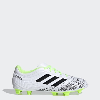 Men's Soccer White Copa 20.4 Firm Ground Cleats