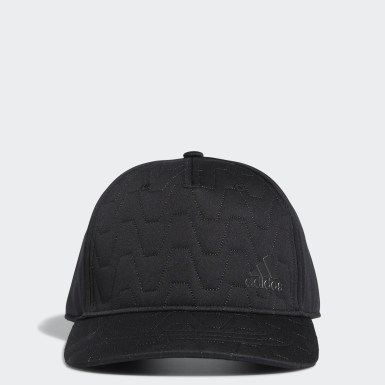 Men Golf Black Quilted Cap