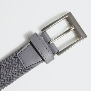 Men Golf Grey Braided Stretch Belt