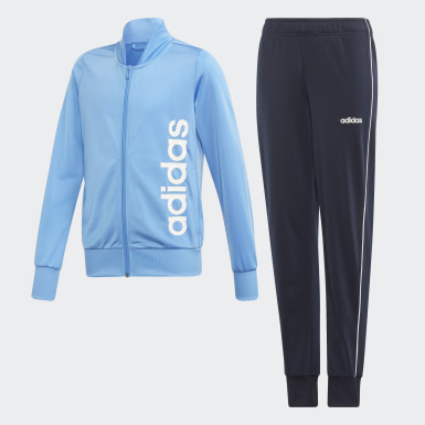 Mädchen Training Trainingsanzug Blau