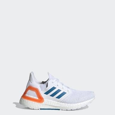 เด็ก วิ่ง สีขาว รองเท้า Ultraboost 20 Primeblue