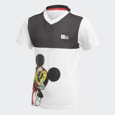 Jungen Training Mickey Mouse Sommer-Set Weiß