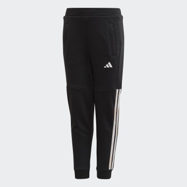 Children Training Black French Terry Pants