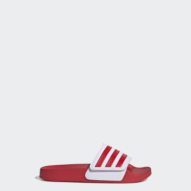 Children Swimming Red Adilette Shower Slides