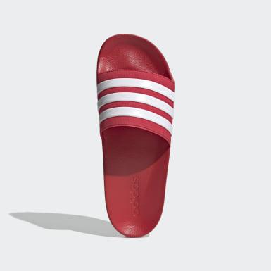 Men's Yoga Red Adilette Shower Slides
