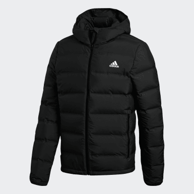 Men Essentials Black Helionic Hooded Down Jacket