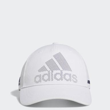 ผู้ชาย กอล์ฟ สีขาว หมวกแก๊ป Laser Logo